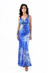 Rochie de zi Lille Couture Kara 19RZL 027 Albastra