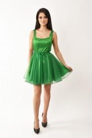 Rochie de seara scurta Lille Couture Cosmina din tull verde