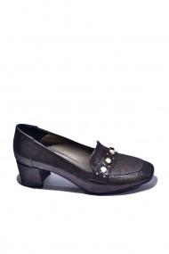 Pantofi cu toc din piele Torino 714 Negri