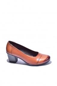 Pantofi cu toc din piele Torino 50-016 Maro