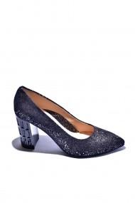 Pantofi cu toc din piele Torino 950-1 Negri