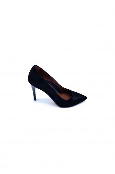 Pantofi cu toc din piele Torino 694-1 Negri