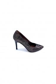 Pantofi cu toc din piele Torino 694 Animal Print