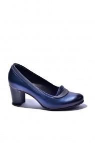 Pantofi cu toc din piele Torino 1121-016 Bleumarin