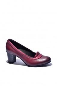 Pantofi cu toc din piele Torino 1121-012 Bordo