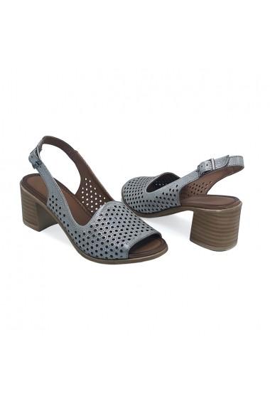 Sandale piele naturala Torino 33016 argintiu