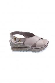 Sandale din piele cu platforma Torino 7037 Gri