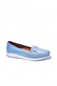Pantofi sport casual din piele Torino 862 Bleu