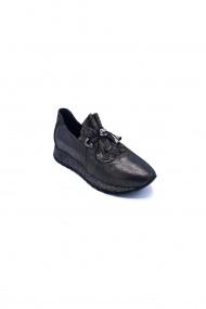 Pantofi sport casual din piele Torino 703-016 Negri
