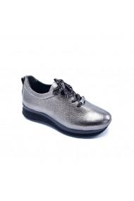 Pantofi sport casual din piele Torino 241-016 Argintii
