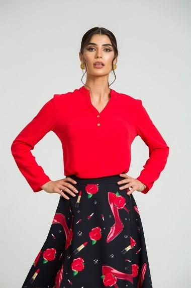 Bluza eleganta cu guler tunica si nasturi DM181