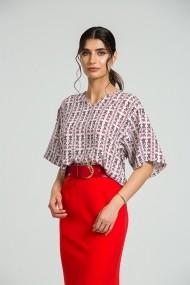 Bluza casual imprimata digital oversize DM185