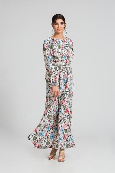 Rochie eleganta lunga de vara cu imprimeu floral DM96
