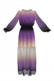 Rochie eleganta lunga de vara imprimata digital OL1
