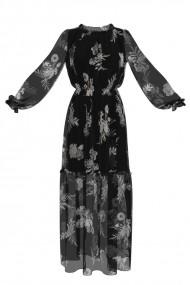 Rochie eleganta lunga de vara imprimata digital OL4