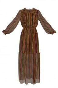 Rochie eleganta lunga de vara imprimata digital OL5