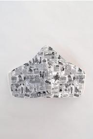 Masca fata reutilizabila imprimata din material textil MSA6