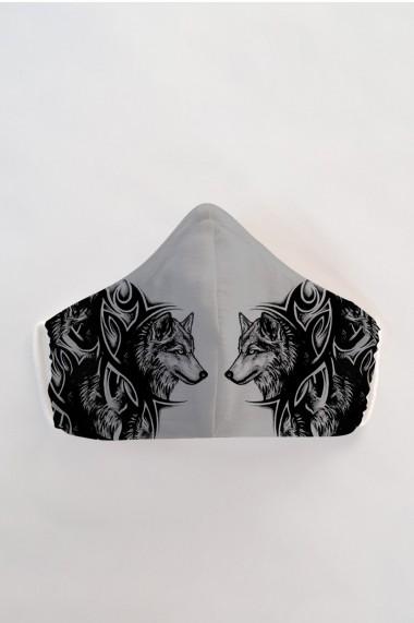Masca fata reutilizabila imprimata din material textil MSA39