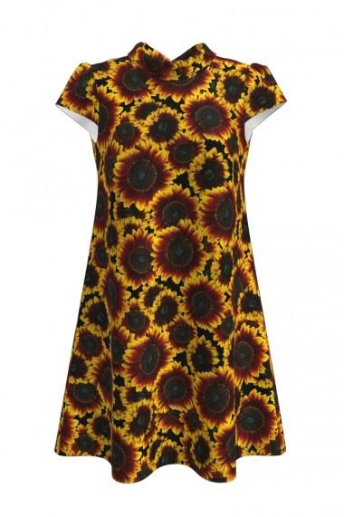 Rochie casual vara imprimeu digital Floarea Soarelui CMD144