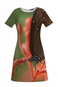 Rochie evazata fluture imprimata digital CMD145