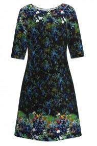 Rochie casual cu maneca imprimata digital model floral CMD150