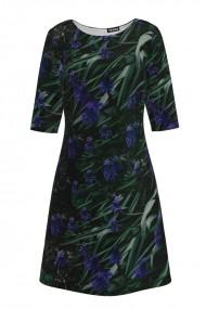 Rochie casual cu maneca imprimata digital floral CMD169