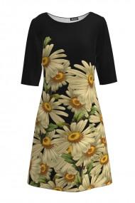 Rochie casual cu maneca imprimata digital floral Margarete CMD207