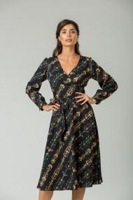 Rochie eleganta cu maneca lunga imprimeu Floral CMD230