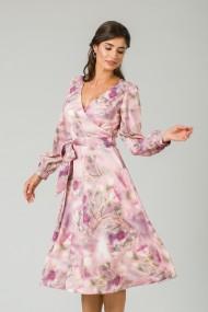 Rochie eleganta cu maneca lunga imprimata Floral CMD234