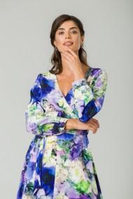 Rochie eleganta cu maneca lunga imprimata floral Anemone CMD235