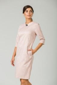 Rochie casual roz-pudră cu buzunare CMD242