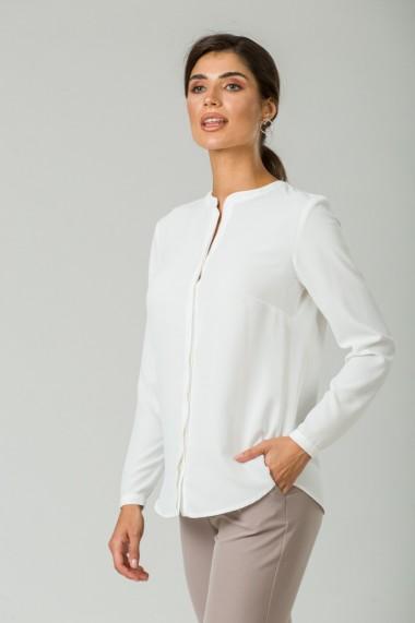 Bluza albă cu guler tunică CMD249