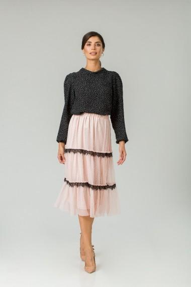 Fustă elegantă din tulle roz CMD253
