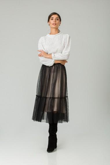 Fustă elegantă din tulle negru CMD254