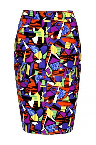 Fusta conica imprimata Stained Glass CMD266