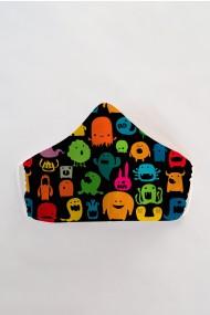 Masca faÈ›a reutilizabila imprimata din material textil MSC93