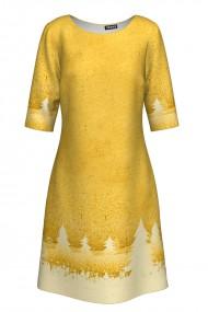 Rochie casual imprimata Golden CMD309