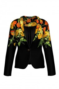 Sacou casual imprimat cu model Floral CMD330