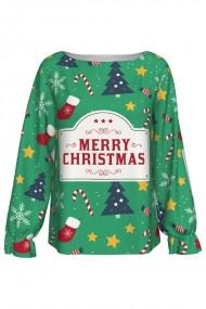 Bluza imprimata digital Merry Christmas A842C9