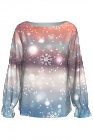 Bluză imprimată digital Snowflakes A842C16