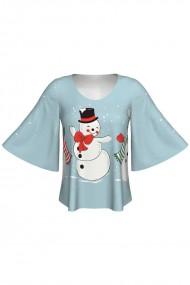 Bluza imprimata digital Snowman A845C13