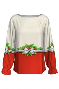 Bluza imprimata digital Christamas Flower CMD362