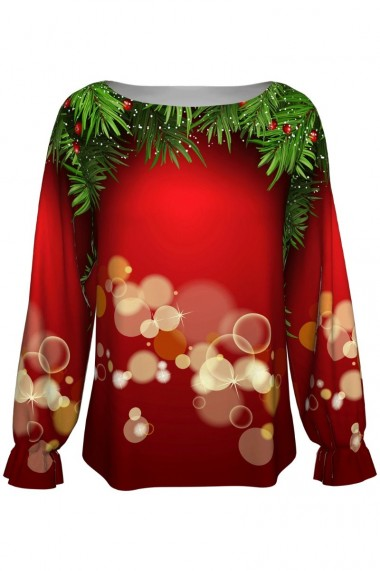 Bluza imprimata digital Christmas Magic A842C2