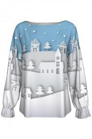 Bluza imprimata digital Christmas Town A842C5