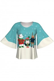 Bluza imprimata digital Happy Friends A845C10