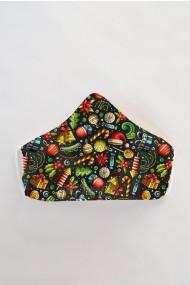 Masca faÈ›a reutilizabila imprimata din material textil MSC107