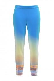 Pantaloni bleu din catifea cu buzunare CMD431