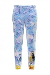Pantaloni bleu din catifea cu buzunare CMD436