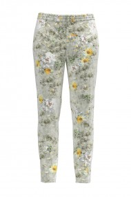 Pantaloni cu print floral din catifea cu buzunare CMD437