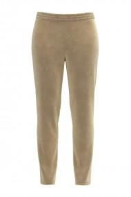 Pantaloni bej din catifea cu buzunare CMD439